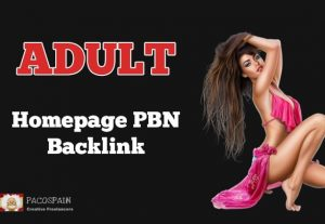 Adult Homepage PBN Backlink PA – 40+ Adult Website