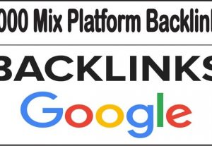 I will give you 2000 Mix Platform Backlinks high quality
