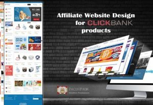 Affiliate Website Design With Hot Selling Clickbank Products