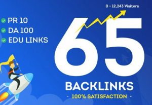 Booster Website Rank – 65 Highest Quality Backlinks