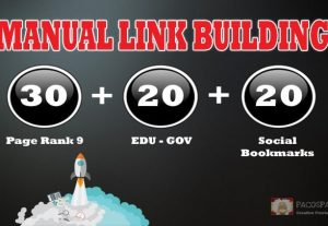 Create Manually 30 PR9 + 20 EDU-GOV + 20 SOCIAL BOOKMARKS