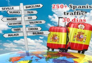 Traffic from Spain 300+ Daily Spanish Traffic For 30 Days