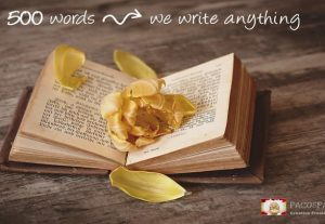 We Write Anything, Articles, Website Content, Love Letters etc.