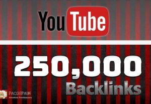 Rank Your YouTube Video With 250,000 Backlinks