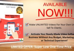 I will give a local video creator software to make unlimited promo videos