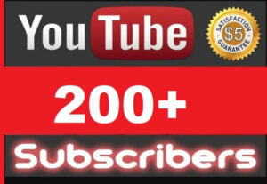200+  YOUTUBE Subscribers NON DROP AND REAL ORGANIC WITH LIFE TIME GUARANTEED